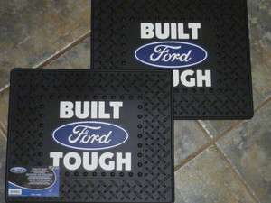 14 FORD RUBBER FLOOR MATS UTILITY MATS TRUNK OR TOOL BOX LINER