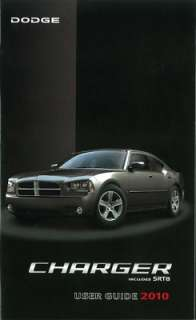 2010 DODGE CHARGER Owners Manual User Guide
