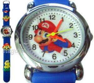 Nintendo Super Mario Bros 3D Kids Wrist Watch Blue #2