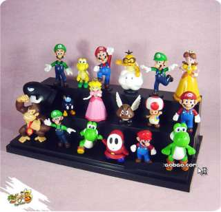18 Super Mario Bros Luigi Action Figures f/ Xmas Gift