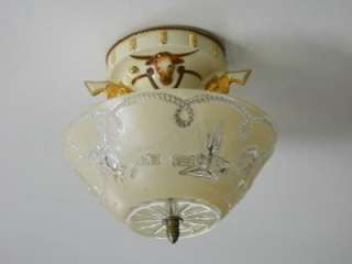 30s Art Deco Porcelain Porcelier Western Ceiling light fixture