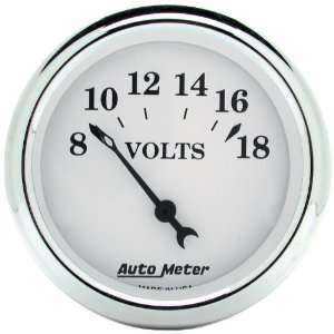 Auto Meter 1692 Old Tyme White 2 1/16 8 18 Volt Short Sweep Electric