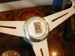 Rolls Royce Corniche Silver Shadow Spirit Spur Wood Steering Wheel