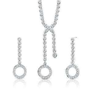 Brilliant Beauty Sterling Silver Rhodium Finish Lariat
