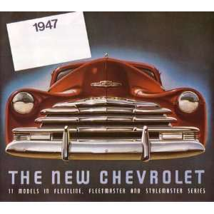 1947 CHEVROLET Sales Brochure Literature Book Piece Automotive