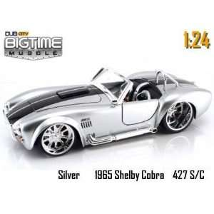 Jada Dub City Big Time Muscle Silver 1965 Shelby Cobra 427