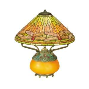 Dale Tiffany Dragonfly Amber Table Lamp
