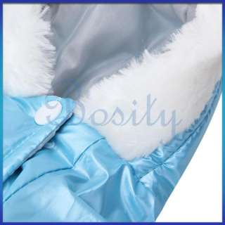 Puppy Pet Dog Shiny Blue Pink Jumpsuit Coat Winter Warm Clothes Parka