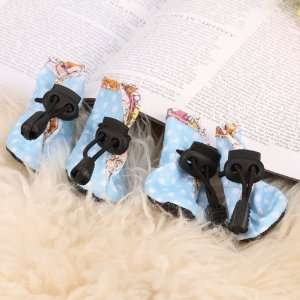 Blue Dots Waterproof Shoes Boots for Pet Dog   Size 5