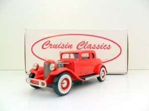 DURHAM CRUISIN CLASSICS 1/43 CC01C 32 FORD HOT ROD RED