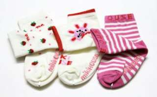 PAIR Baby Cute Socks K Newborn Infant Toddler Boy / Girl