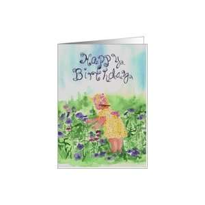 Happy Birthday Baby Girl Flower Garden Card Toys & Games