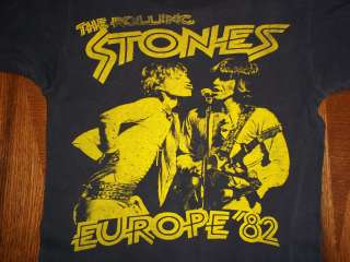 VTG THE ROLLING STONES 1982 Dragon Europe concert tour t shirt SMALL S