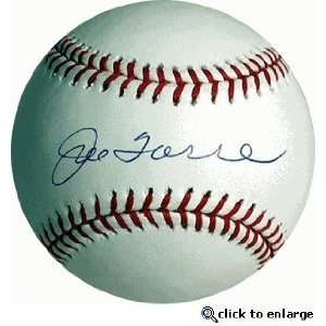 Joe Torre Hand Signed Autographed New York Yankees