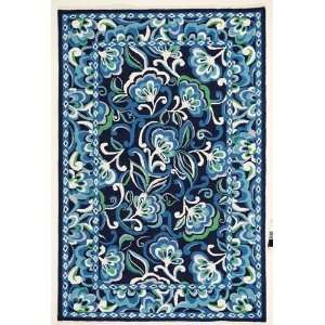 Vera Bradley Collection   Mediterranean Blue rug
