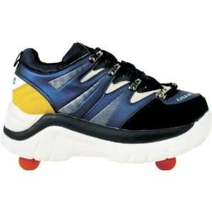 Roller Shoes 4 Wheels   Blue / Black / Yellow Style