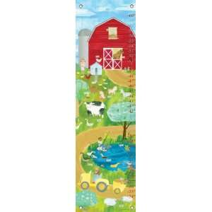 Oopsy daisy Farm Friends Growth Chart by Maria Carluccio