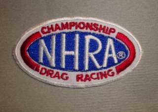 NHRA DRAG RACING CHAMPIONSHIP PATCH BADGE HOT ROD RETRO
