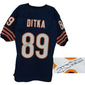Mike Ditka Autographed/Hand Signed Navy Custom Jersey