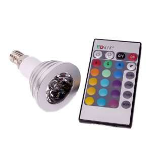 E14 3w 85 265v 16 color Remote Control LED Light Bulb