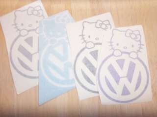 VOLKSWAGEN HELLO KITTY Symbol GIRLS Cute VINYL Decal STICKER Car Euro