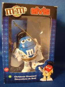 ELVIS Blue M & M Kurt Adler Christmas Ornament M&Ms New