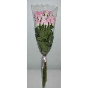 One Dozen Long Stem Pink Roses