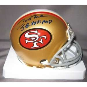 Jerry Rice San Francisco 49ers NFL Hand Signed Mini Football Helmet