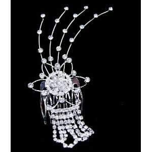 Bridal Wedding Prom Crystal Rhinestone Hair Comb 01