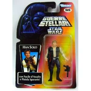 Star Wars Potf 1995 Italian Figure with Card HAN Solo