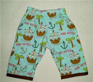New Hip Pirate Ocean Kids baby infant boy pants clothes