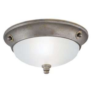 Westinghouse 69193   2 Light Excavated Bronze Ceiling Flush Mount