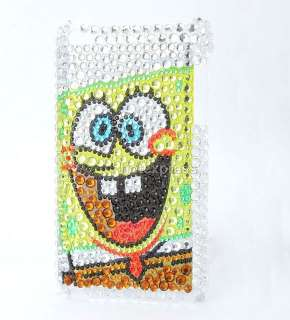 SpongeBob SquarePants back rhinestones shell case cover for ipod touch