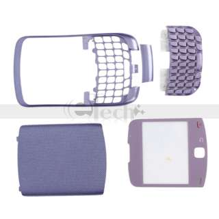 New 4 Piece Housing Case Cover for Blackberry 9300 Light Purple Free