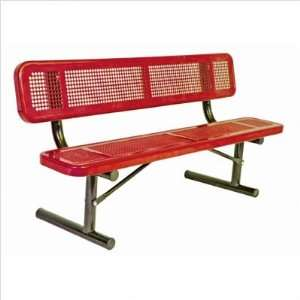Ultra Play P 8 Perforated Pattern Bench with Back Frame