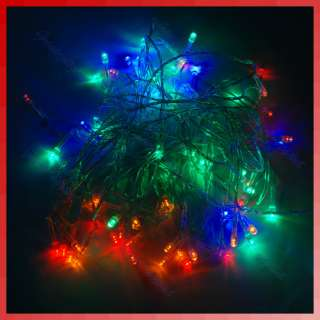 100 LED Colorful Flash Glow String Light for Christmas Party Wedding