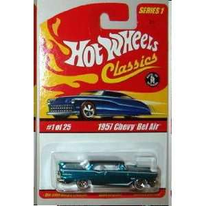 Hot Wheels Classics Series 1 57 Chevy Bel Air Blue #1 of