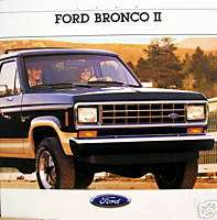 1988 Ford Bronco II SUV new vehicle brochure