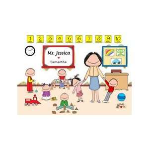 Personalized Daycare/Preschool Teacher Cartoon Picture