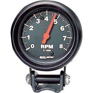 Auto Meter 2892 Z Series Black 2 5/8 8000 RPM Mini Tach Tachometer