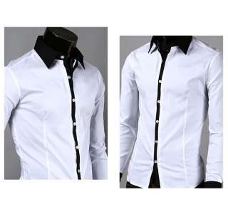 Mens Slim Luxury Style Dress Shirts 5Colors 4Size CC01
