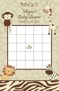 24 Personalized Cocalo Nali Jungle Baby Shower BINGO Cards   Lion