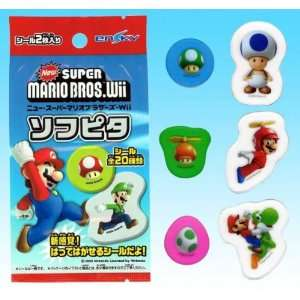 New Super Mario Brothers Wii Removable Vinyl Stickers