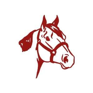 Quarter Horse BURGANDY Vinyl window decal sticker Office