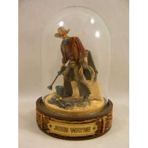 John Wayne Franklin Mint Hand Painted Sculpture