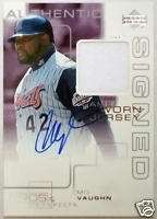 2000 Pros & Prospects MO VAUGHN Auto Jersey Patch SP