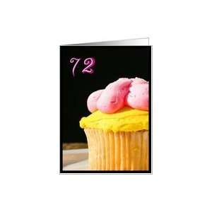 Happy 72nd Birthday Muffin Card Toys & Games