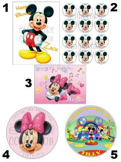 MINNIE & MICKEY MOUSE CLUBHOUSE EDIBLE ICING SHEET / CAKE TOPPER  11