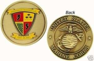 USMC MARINE CORPS 3/5 GET SOME MILITARY CHALLENGE COIN
