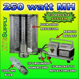250 watt MH GROW LIGHT SYSTEM 250w METAL HALIDE w sun